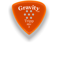 Load image into Gallery viewer, Tripp Mini Jazz 3.0mm Orange Multi-Hole Grip Acrylic Guitar Pick Handmade Custom Best Acoustic Mandolin Electric Ukulele Bass Plectrum Bright Loud Faster Speed