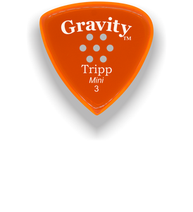 Tripp Mini Jazz 3.0mm Orange Multi-Hole Grip Acrylic Guitar Pick Handmade Custom Best Acoustic Mandolin Electric Ukulele Bass Plectrum Bright Loud Faster Speed