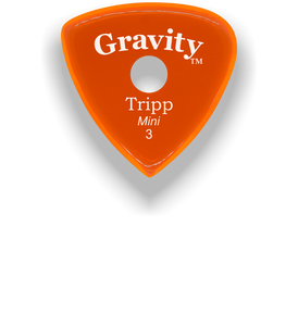Tripp Mini Jazz 3.0mm Orange Single Round Grip Acrylic Guitar Pick Handmade Custom Best Acoustic Mandolin Electric Ukulele Bass Plectrum Bright Loud Faster Speed