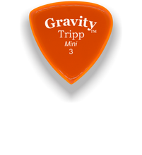 Load image into Gallery viewer, Tripp Mini Jazz 3.0mm Orange Acrylic Guitar Pick Handmade Custom Best Acoustic Mandolin Electric Ukulele Bass Plectrum Bright Loud Faster Speed