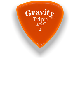 Tripp Mini Jazz 3.0mm Orange Acrylic Guitar Pick Handmade Custom Best Acoustic Mandolin Electric Ukulele Bass Plectrum Bright Loud Faster Speed