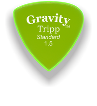 Load image into Gallery viewer, Tripp Standard 1.5mm Fluorescent Green Acrylic Guitar Pick Handmade Custom Best Acoustic Mandolin Electric Ukulele Bass Plectrum Bright Loud Faster Speed