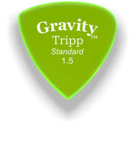 Tripp Standard 1.5mm Fluorescent Green Acrylic Guitar Pick Handmade Custom Best Acoustic Mandolin Electric Ukulele Bass Plectrum Bright Loud Faster Speed