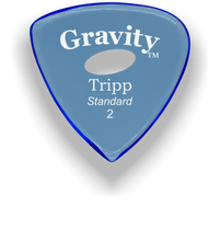 Load image into Gallery viewer, Tripp Standard 2.0mm Blue Elipse Grip Acrylic Guitar Pick Handmade Custom Best Acoustic Mandolin Electric Ukulele Bass Plectrum Bright Loud Faster Speed