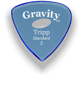 Tripp Standard 2.0mm Blue Elipse Grip Acrylic Guitar Pick Handmade Custom Best Acoustic Mandolin Electric Ukulele Bass Plectrum Bright Loud Faster Speed