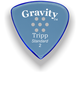 Tripp Standard 2.0mm Blue Multi-Hole Grip Acrylic Guitar Pick Handmade Custom Best Acoustic Mandolin Electric Ukulele Bass Plectrum Bright Loud Faster Speed