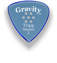 Load image into Gallery viewer, Tripp Standard 2.0mm Blue Multi-Hole Grip Acrylic Guitar Pick Handmade Custom Best Acoustic Mandolin Electric Ukulele Bass Plectrum Bright Loud Faster Speed
