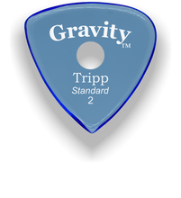 Load image into Gallery viewer, Tripp Standard 2.0mm Blue Single Round Grip Acrylic Guitar Pick Handmade Custom Best Acoustic Mandolin Electric Ukulele Bass Plectrum Bright Loud Faster Speed