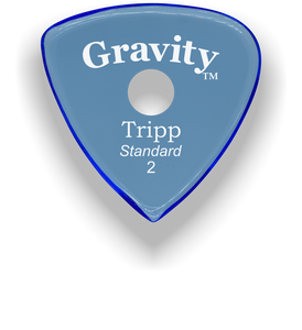 Tripp Standard 2.0mm Blue Single Round Grip Acrylic Guitar Pick Handmade Custom Best Acoustic Mandolin Electric Ukulele Bass Plectrum Bright Loud Faster Speed