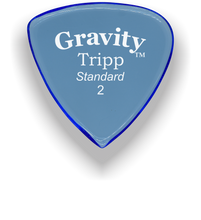 Load image into Gallery viewer, Tripp Standard 2.0mm Blue Acrylic Guitar Pick Handmade Custom Best Acoustic Mandolin Electric Ukulele Bass Plectrum Bright Loud Faster Speed