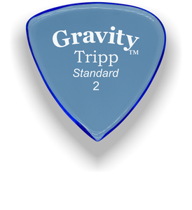 Tripp Standard 2.0mm Blue Acrylic Guitar Pick Handmade Custom Best Acoustic Mandolin Electric Ukulele Bass Plectrum Bright Loud Faster Speed