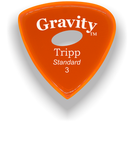 Tripp Standard 3.0mm Orange Elipse Grip Acrylic Guitar Pick Handmade Custom Best Acoustic Mandolin Electric Ukulele Bass Plectrum Bright Loud Faster Speed
