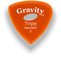 Load image into Gallery viewer, Tripp Standard 3.0mm Orange Elipse Grip Acrylic Guitar Pick Handmade Custom Best Acoustic Mandolin Electric Ukulele Bass Plectrum Bright Loud Faster Speed