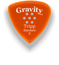 Load image into Gallery viewer, Tripp Standard 3.0mm Orange Multi-Hole Grip Acrylic Guitar Pick Handmade Custom Best Acoustic Mandolin Electric Ukulele Bass Plectrum Bright Loud Faster Speed