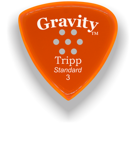 Tripp Standard 3.0mm Orange Multi-Hole Grip Acrylic Guitar Pick Handmade Custom Best Acoustic Mandolin Electric Ukulele Bass Plectrum Bright Loud Faster Speed