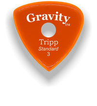 Load image into Gallery viewer, Tripp Standard 3.0mm Orange Single Round Grip Acrylic Guitar Pick Handmade Custom Best Acoustic Mandolin Electric Ukulele Bass Plectrum Bright Loud Faster Speed