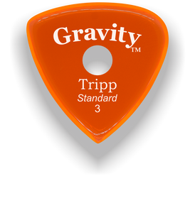 Tripp Standard 3.0mm Orange Single Round Grip Acrylic Guitar Pick Handmade Custom Best Acoustic Mandolin Electric Ukulele Bass Plectrum Bright Loud Faster Speed