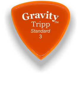 Tripp Standard 3.0mm Orange Acrylic Guitar Pick Handmade Custom Best Acoustic Mandolin Electric Ukulele Bass Plectrum Bright Loud Faster Speed