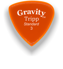 Load image into Gallery viewer, Tripp Standard 3.0mm Orange Acrylic Guitar Pick Handmade Custom Best Acoustic Mandolin Electric Ukulele Bass Plectrum Bright Loud Faster Speed