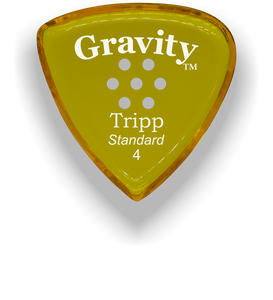 Tripp Standard 4.0mm Yellow Multi-Hole Grip Acrylic Guitar Pick Handmade Custom Best Acoustic Mandolin Electric Ukulele Bass Plectrum Bright Loud Faster Speed
