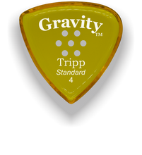 Load image into Gallery viewer, Tripp Standard 4.0mm Yellow Multi-Hole Grip Acrylic Guitar Pick Handmade Custom Best Acoustic Mandolin Electric Ukulele Bass Plectrum Bright Loud Faster Speed