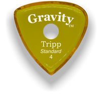Load image into Gallery viewer, Tripp Standard 4.0mm Yellow Single Round Grip Acrylic Guitar Pick Handmade Custom Best Acoustic Mandolin Electric Ukulele Bass Plectrum Bright Loud Faster Speed