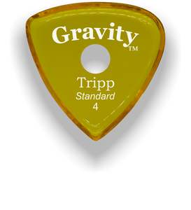 Tripp Standard 4.0mm Yellow Single Round Grip Acrylic Guitar Pick Handmade Custom Best Acoustic Mandolin Electric Ukulele Bass Plectrum Bright Loud Faster Speed
