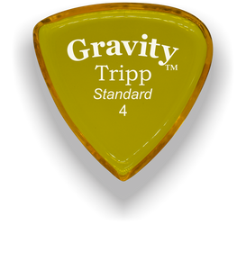 Tripp Standard 4.0mm Yellow Acrylic Guitar Pick Handmade Custom Best Acoustic Mandolin Electric Ukulele Bass Plectrum Bright Loud Faster Speed