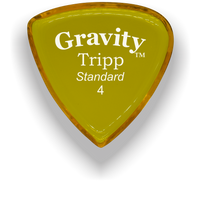 Load image into Gallery viewer, Tripp Standard 4.0mm Yellow Acrylic Guitar Pick Handmade Custom Best Acoustic Mandolin Electric Ukulele Bass Plectrum Bright Loud Faster Speed