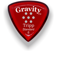 Load image into Gallery viewer, Tripp Standard 6.0mm Red Multi-Hole Grip Acrylic Guitar Pick Handmade Custom Best Acoustic Mandolin Electric Ukulele Bass Plectrum Bright Loud Faster Speed