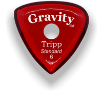 Load image into Gallery viewer, Tripp Standard 6.0mm Red Single Round Grip Acrylic Guitar Pick Handmade Custom Best Acoustic Mandolin Electric Ukulele Bass Plectrum Bright Loud Faster Speed
