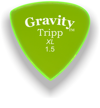 Load image into Gallery viewer, Tripp XL 1.5mm Fluorescent Green Acrylic Guitar Pick Handmade Custom Best Acoustic Mandolin Electric Ukulele Bass Plectrum Bright Loud Faster Speed