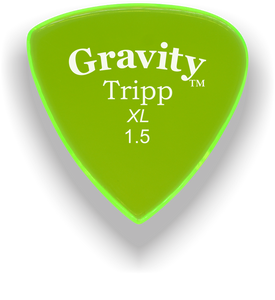 Tripp XL 1.5mm Fluorescent Green Acrylic Guitar Pick Handmade Custom Best Acoustic Mandolin Electric Ukulele Bass Plectrum Bright Loud Faster Speed