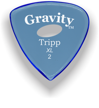 Load image into Gallery viewer, Tripp XL 2.0mm Blue Elipse Grip Acrylic Guitar Pick Handmade Custom Best Acoustic Mandolin Electric Ukulele Bass Plectrum Bright Loud Faster Speed