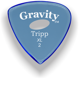 Tripp XL 2.0mm Blue Elipse Grip Acrylic Guitar Pick Handmade Custom Best Acoustic Mandolin Electric Ukulele Bass Plectrum Bright Loud Faster Speed