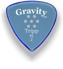 Load image into Gallery viewer, Tripp XL 2.0mm Blue Multi-Hole Grip Acrylic Guitar Pick Handmade Custom Best Acoustic Mandolin Electric Ukulele Bass Plectrum Bright Loud Faster Speed