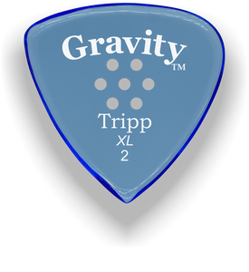 Tripp XL 2.0mm Blue Multi-Hole Grip Acrylic Guitar Pick Handmade Custom Best Acoustic Mandolin Electric Ukulele Bass Plectrum Bright Loud Faster Speed