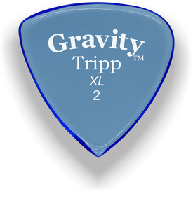 Tripp XL 2.0mm Blue Acrylic Guitar Pick Handmade Custom Best Acoustic Mandolin Electric Ukulele Bass Plectrum Bright Loud Faster Speed