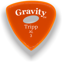 Load image into Gallery viewer, Tripp XL 3.0mm Orange Elipse Grip Acrylic Guitar Pick Handmade Custom Best Acoustic Mandolin Electric Ukulele Bass Plectrum Bright Loud Faster Speed