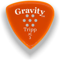 Load image into Gallery viewer, Tripp XL 3.0mm Orange Multi-Hole Grip Acrylic Guitar Pick Handmade Custom Best Acoustic Mandolin Electric Ukulele Bass Plectrum Bright Loud Faster Speed