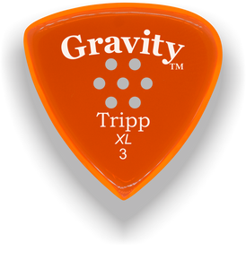 Tripp XL 3.0mm Orange Multi-Hole Grip Acrylic Guitar Pick Handmade Custom Best Acoustic Mandolin Electric Ukulele Bass Plectrum Bright Loud Faster Speed