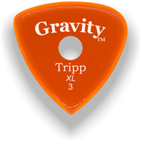 Load image into Gallery viewer, Tripp XL 3.0mm Orange Single Round Grip Acrylic Guitar Pick Handmade Custom Best Acoustic Mandolin Electric Ukulele Bass Plectrum Bright Loud Faster Speed