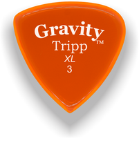 Load image into Gallery viewer, Tripp XL 3.0mm Orange Acrylic Guitar Pick Handmade Custom Best Acoustic Mandolin Electric Ukulele Bass Plectrum Bright Loud Faster Speed