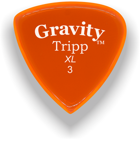 Tripp XL 3.0mm Orange Acrylic Guitar Pick Handmade Custom Best Acoustic Mandolin Electric Ukulele Bass Plectrum Bright Loud Faster Speed