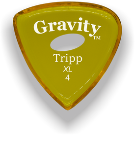 Tripp XL 4.0mm Yellow Elipse Grip Acrylic Guitar Pick Handmade Custom Best Acoustic Mandolin Electric Ukulele Bass Plectrum Bright Loud Faster Speed