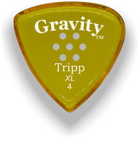 Load image into Gallery viewer, Tripp XL 4.0mm Yellow Multi-Hole Grip Acrylic Guitar Pick Handmade Custom Best Acoustic Mandolin Electric Ukulele Bass Plectrum Bright Loud Faster Speed