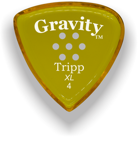 Tripp XL 4.0mm Yellow Multi-Hole Grip Acrylic Guitar Pick Handmade Custom Best Acoustic Mandolin Electric Ukulele Bass Plectrum Bright Loud Faster Speed