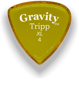 Tripp XL 4.0mm Yellow Acrylic Guitar Pick Handmade Custom Best Acoustic Mandolin Electric Ukulele Bass Plectrum Bright Loud Faster Speed