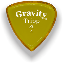 Load image into Gallery viewer, Tripp XL 4.0mm Yellow Acrylic Guitar Pick Handmade Custom Best Acoustic Mandolin Electric Ukulele Bass Plectrum Bright Loud Faster Speed