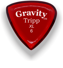 Load image into Gallery viewer, Tripp XL 6.0mm Red Acrylic Guitar Pick Handmade Custom Best Acoustic Mandolin Electric Ukulele Bass Plectrum Bright Loud Faster Speed